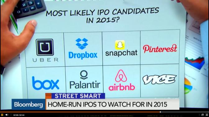 IPOs startups & Tech para 2015