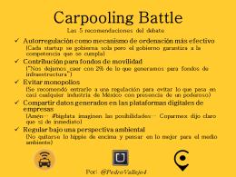 Carpooling Battle