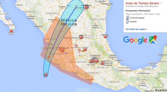 """Apps al rescate de desastres naturales – """"Huracan Patricia"""", MX"""