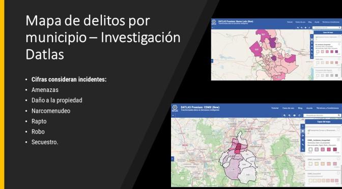 Mapa de delitos por municipio – Investigación Datlas